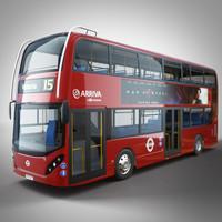 london bus arriva 3d model