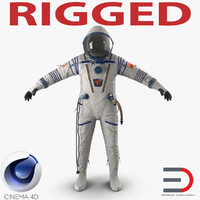 3d russian space suit sokol model