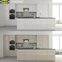 kitchen ikea voxtorp 3d max