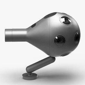 3d virtual reality camera ozo model