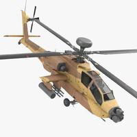 3d model ah-64d apache longbow israel