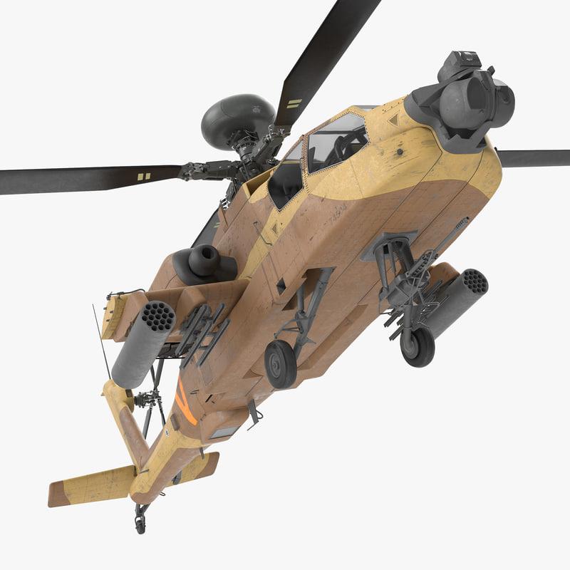 ah-64d apache longbow israel 3d max