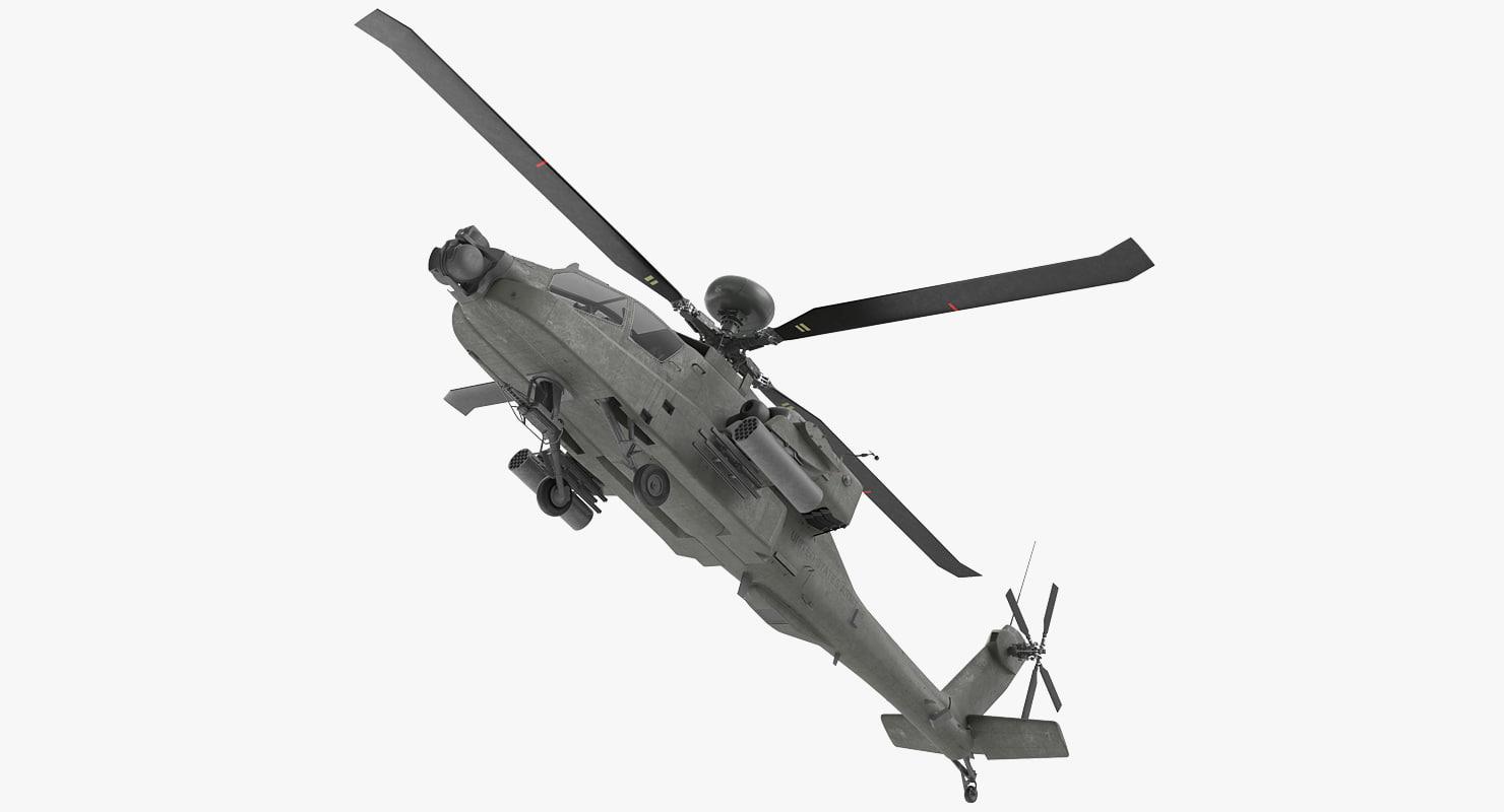 ah-64d apache longbow rigged max