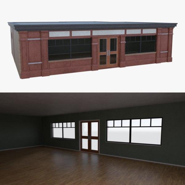 3d model bar building interior