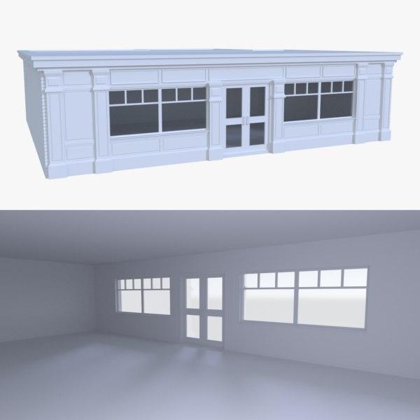 bar building interior 3d x