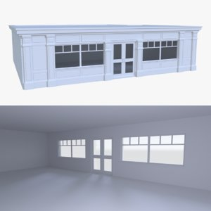 bar building interior 3d x