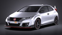 3d model honda civic 2016