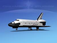 landing space shuttle 3d max