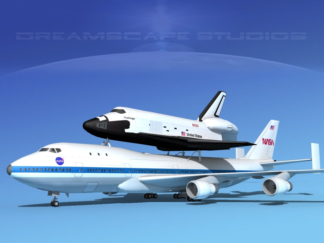 transport space shuttle 3d max