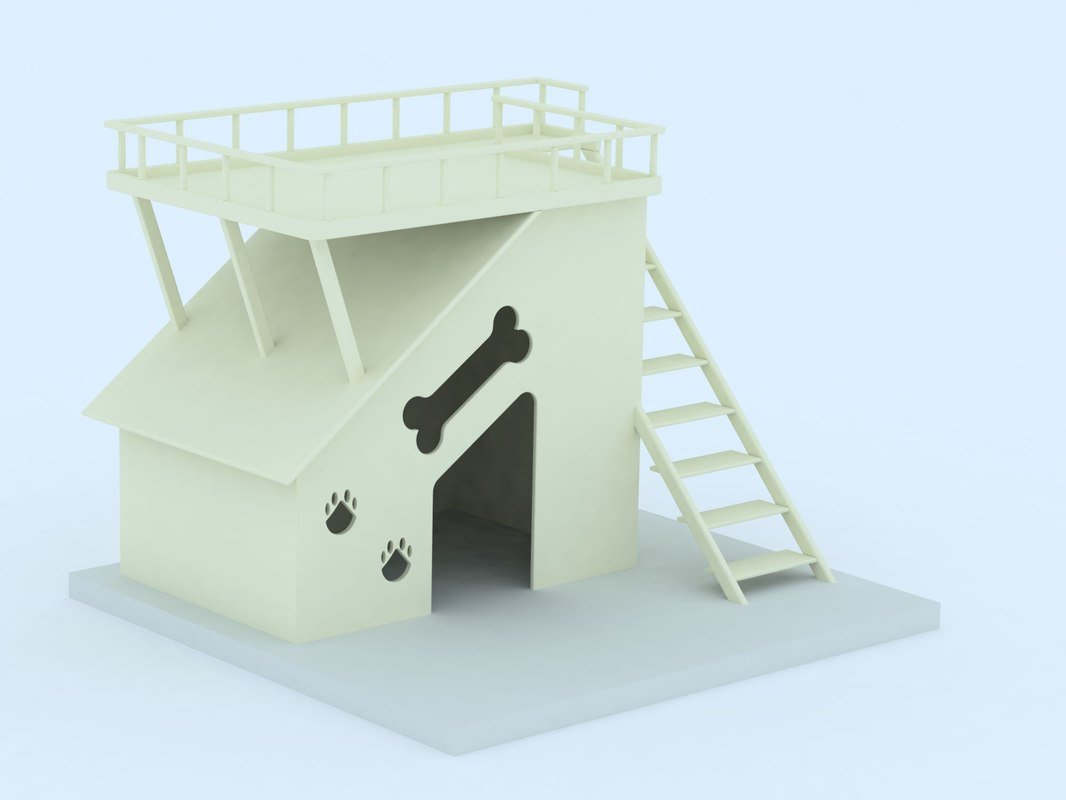 3d model doghouse dog house