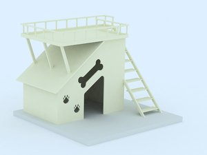3d model doghouse dog house