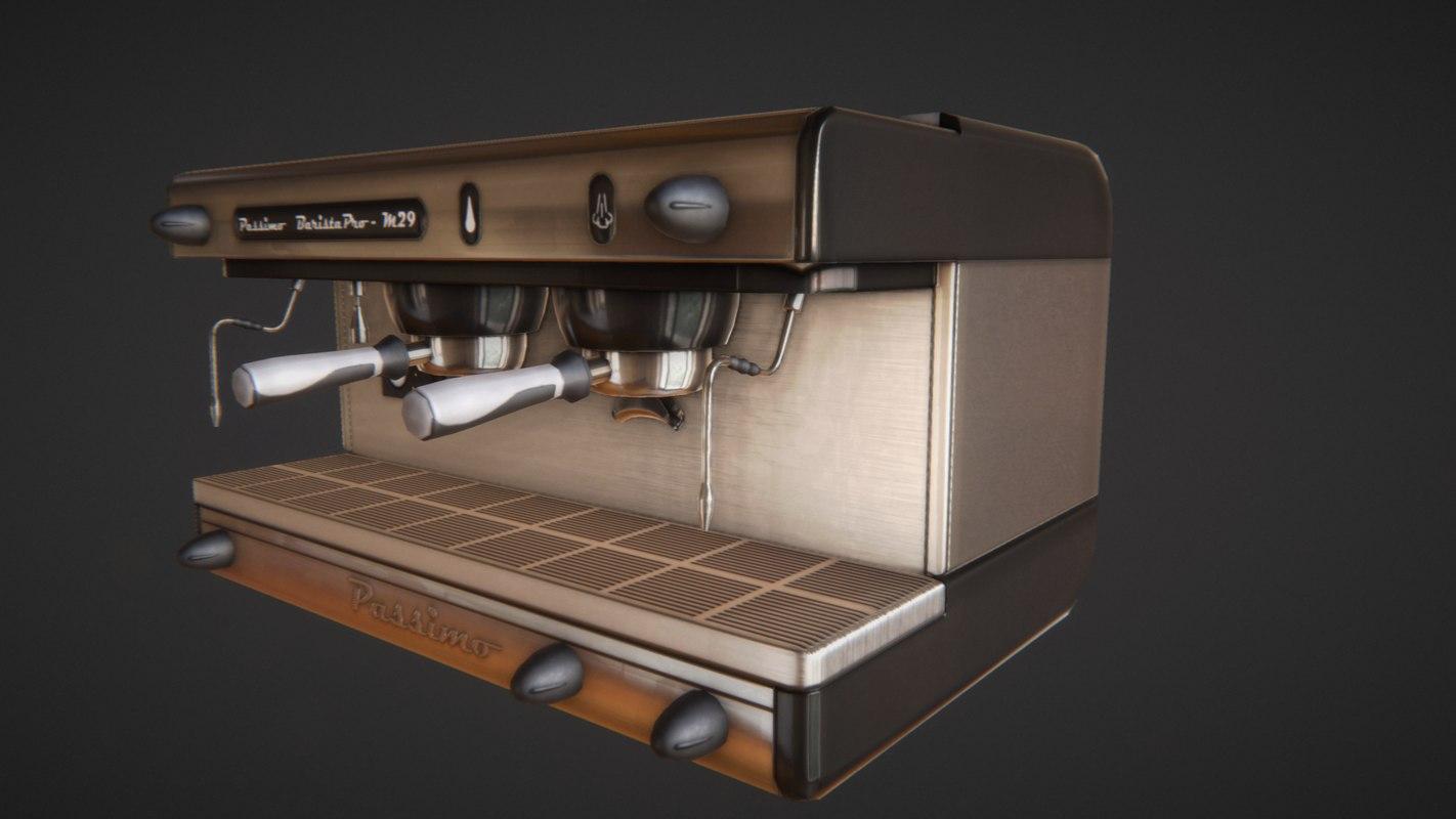 3d model passimo coffee machine