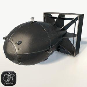 3d nuclear bomb fat man model