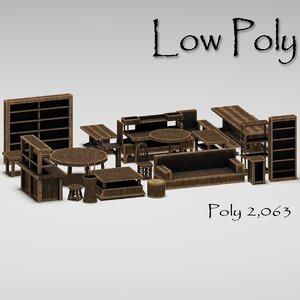 3d model toon furniture pack
