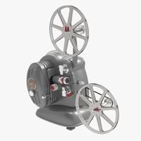 noris-8 8mm film projector 3d model
