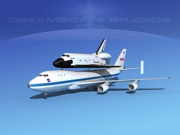 3d model transport space shuttle