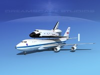 3d model transport space shuttle