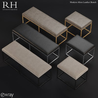 RH Modern Alton Leather Bench