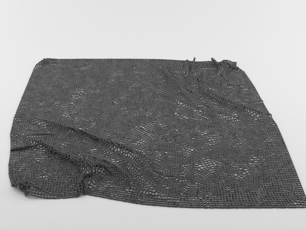 3d model rug wrinkles