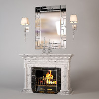 Antique Modern Fireplace