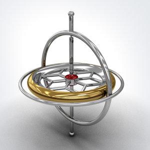gyroscope gyro 3d max