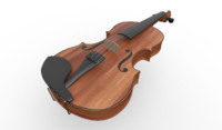 classical violin 3d max
