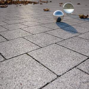 Square concrete pavement