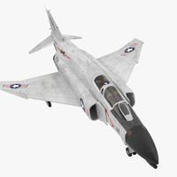 F-4 Phantom II US Navy 2 Rigged 3D Model