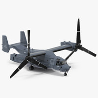 3d model military transport aircraft v-22 osprey