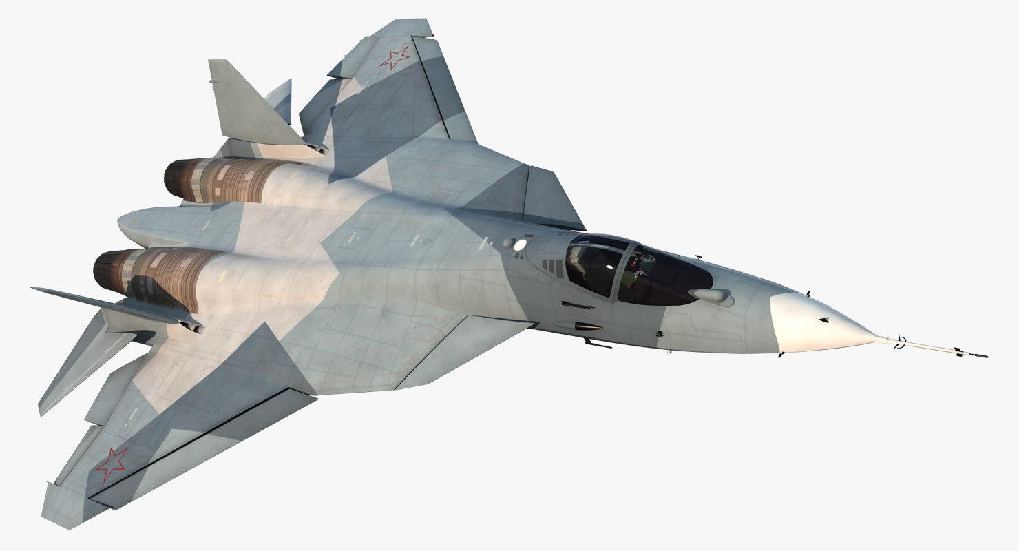 3d model sukhoi t-50 pak fa