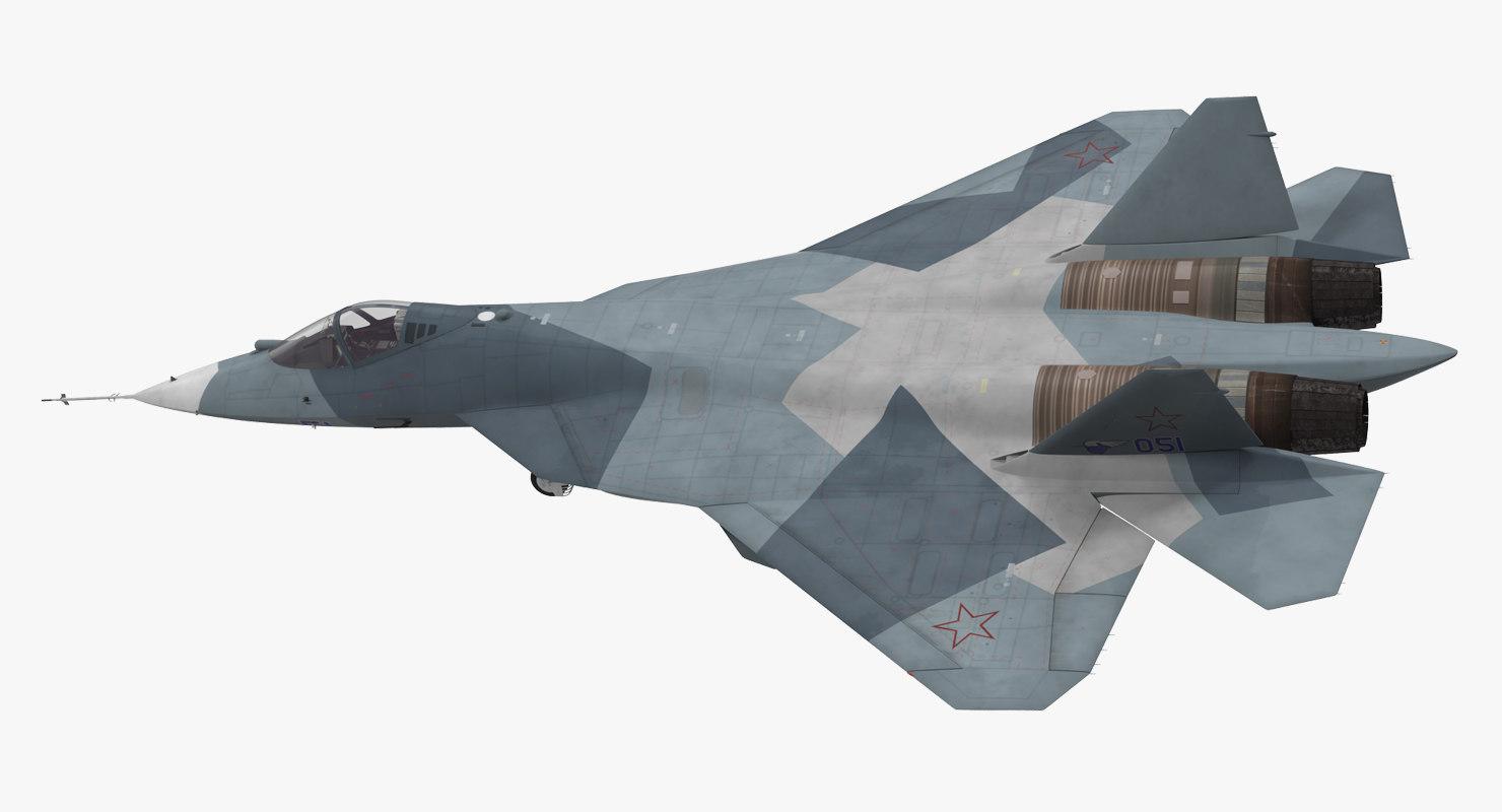 3d sukhoi t-50 pak fa