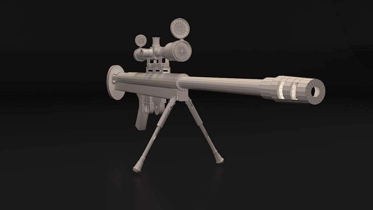 lar grizzly-50bmg rifle obj