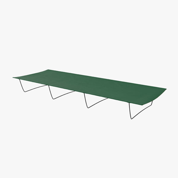 camping folding bed 2 3d max