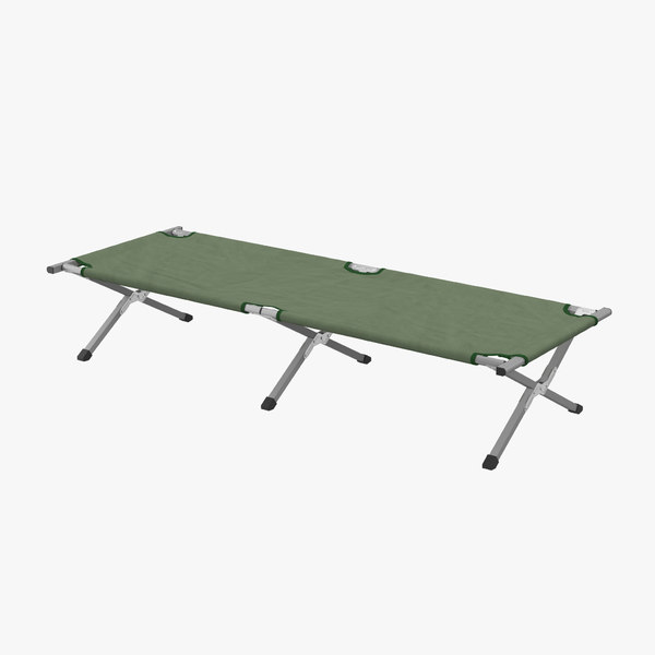 3d model camping stretchers bed