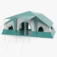 3d deluxe cabin tent