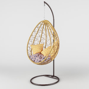 3d model swing wicker rattan