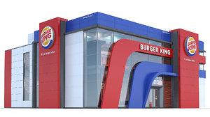 burgerking restaurant 3d model