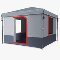 4 person cabin camping 3d model