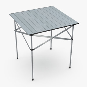 3d model aluminum picnic table folding