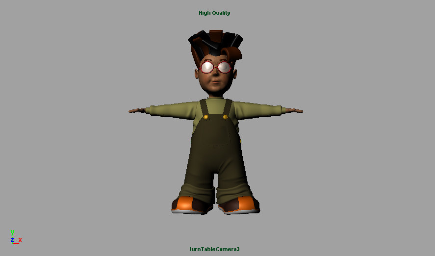 3d obj cartoon kid
