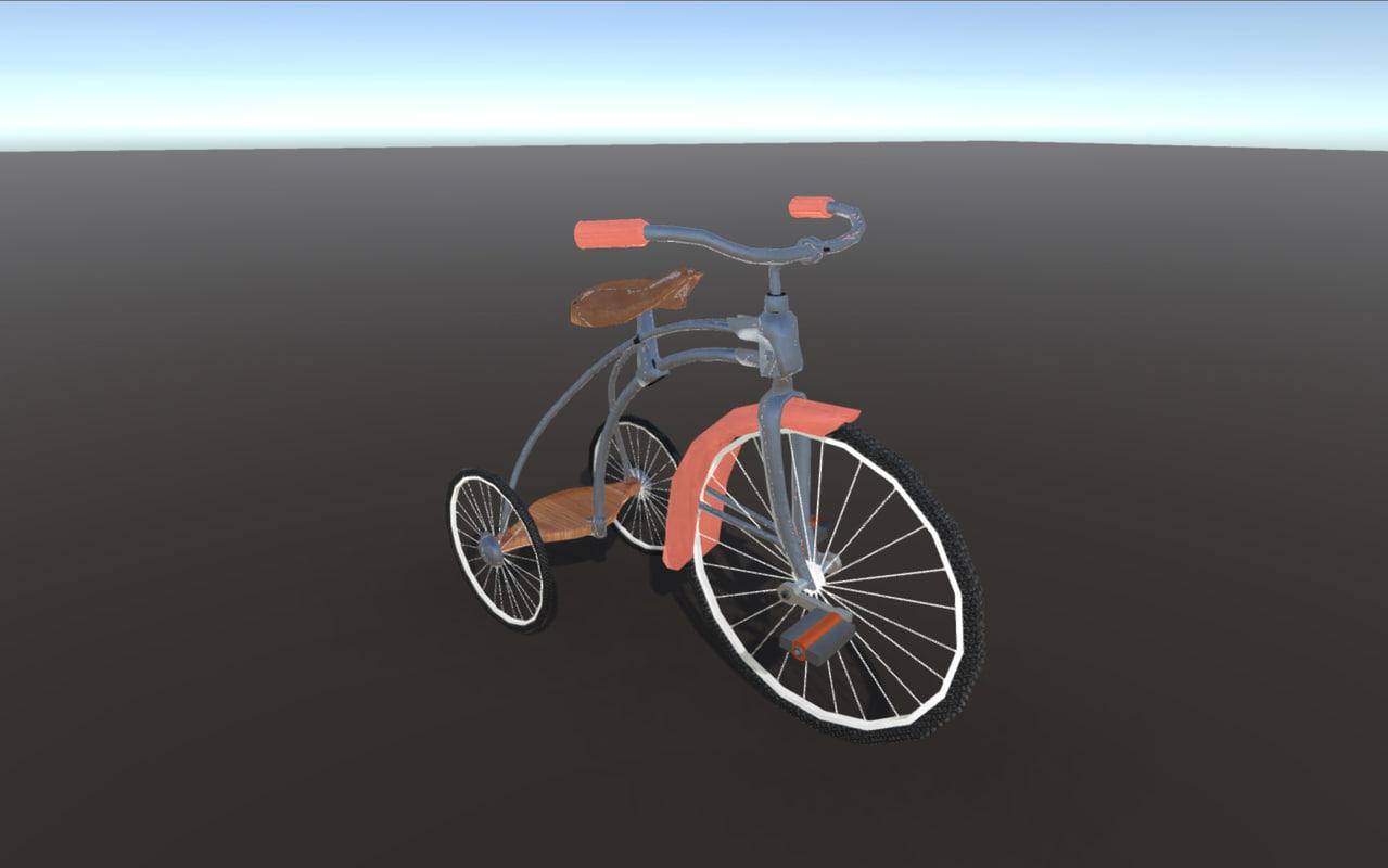 tricycle 3d fbx