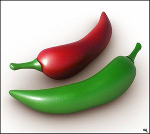 food pepper chili 3d model