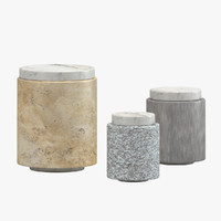3d michael verheyden stone containers