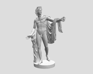 free obj mode sculpture apollo belvedere