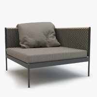 3d max roda basket sofa module