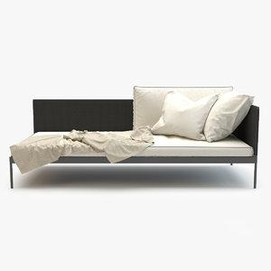 3d model roda basket sofa module
