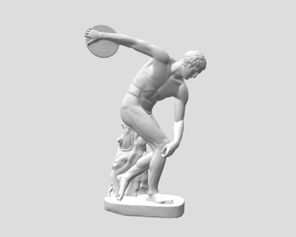 free obj mode sculpture discobolus discus thrower