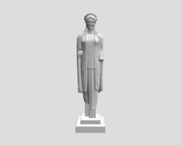 sculpture kore dressed chiton obj free