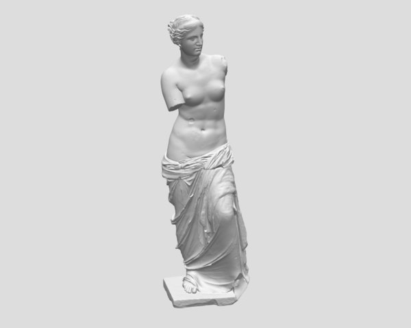 free obj model sculpture venus milo aphrodite