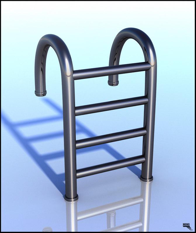 ladder swimming pool obj